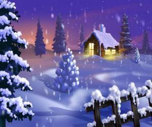 Пазлы рождественские пейзажи