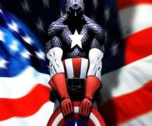 Пазл супергерой капитан америка